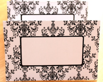 Regal Damask Editable Printable Place Cards