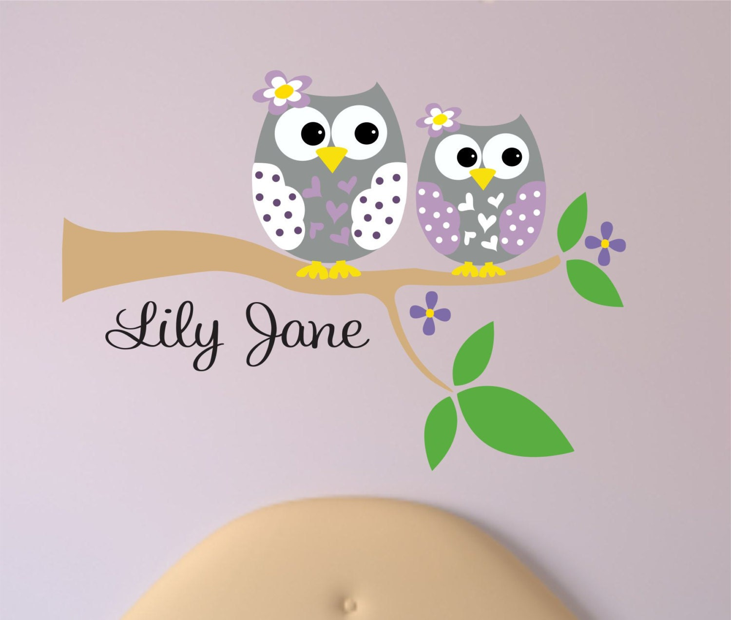 Wonderful Personalized Owl Decal   Name Wall Decal   Owl Wall Decals   Tree Branch  With Owl Sisters Wall Decal.