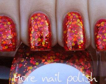 Muy Caliente Hand made custom nail polish