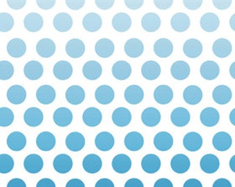 Riley Blake Ombre Navy Polka Dot Fabric