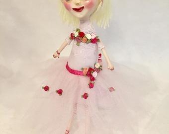 Handmade Degas Dancer Doll - Ooak Art Doll - Ballerina Doll
