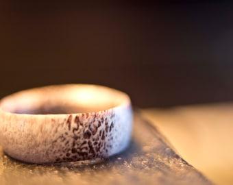 Handmade Midwest Whitetail Deer Antler Ring
