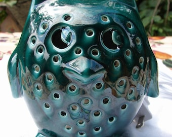 Owl Lovers Night Light In Deep Forest Green