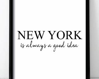 New York City Travel Fashion Capital Homeware Wall Print