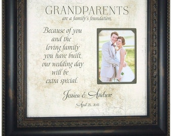 Grandparents Gift, Thank You Gift for Grandparents, Nana, Papa, Grandma, Grandpa, Grandmother, Grandfather, 16x16