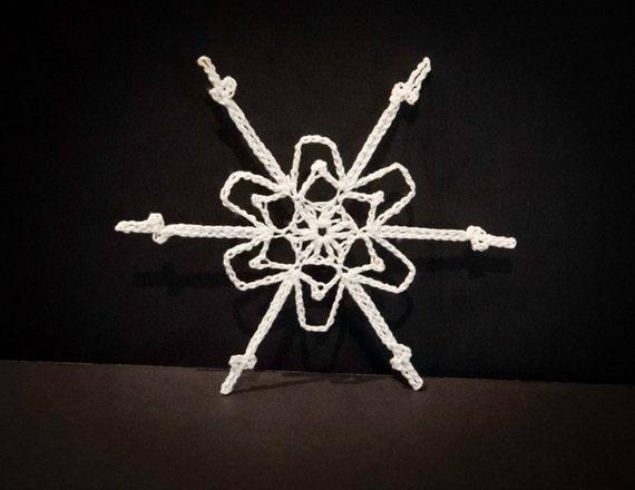 Vintage Handmade White Crocheted Christmas Ornament #12