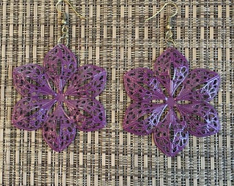 Grape Hand Painted Filigree Earrings