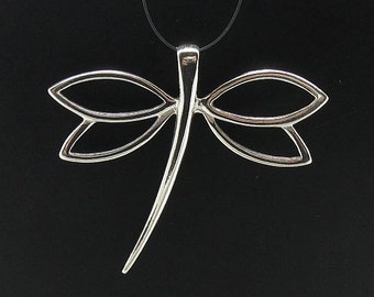 PE000540   Sterling silver pendant dragonfly  925 solid