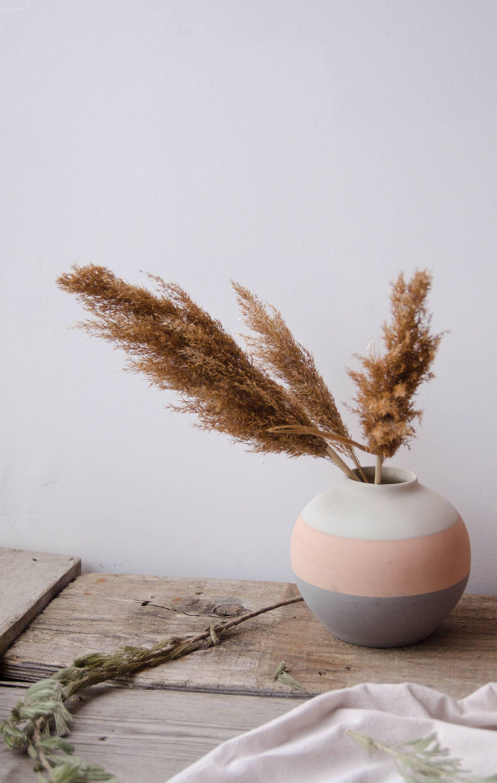 Vintage ceramic flower vase vintage pottery grey and pink reviewsmspy