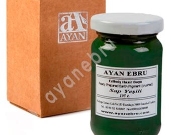 Ebru Marbling Paint Colors-Sap Green 105cc (Ayan)