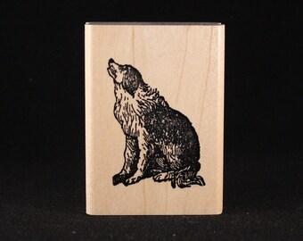 "Howling Dog (1.25"" x 2"")"