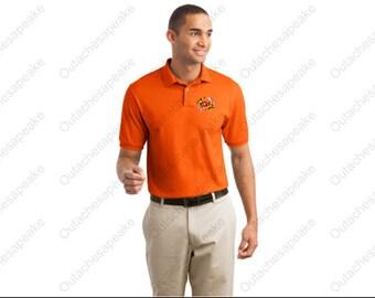 Maryland Crab Flag Polo DryBlend Gildan Embroidered Shirt