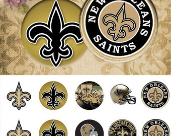New Orleans Saint  - 25 mm 1 inch the paper 4x6 inch Digital Collage INSTANT DOWNLOAD