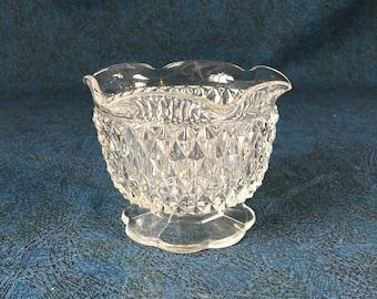Vintage Indiana Diamond Point Mayonnaise Bowl