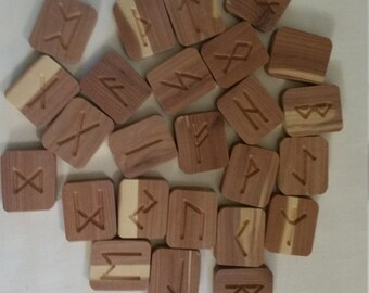 Reclaimed Aromatic Cedar Runes
