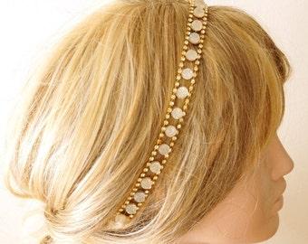Bridal Headband, Wedding Headband,  Wedding Trends Hair Halo, Crystal Hairband, Bridal Hair Accessory, Wedding hair Accessory