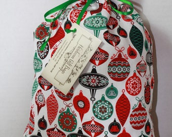 Cloth Gift Bags Fabric Gift Bags Medium Vintage Christmas Ornments Reusable Eco Friendly Gift Wrap