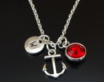 Anchor Necklace, Anchor Charm, Anchor Pendant, Anchor Jewelry, Anchor Gifts, Nautical Necklace, Nautical Charm, Nautical Pendant, Sea Gift