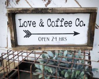 Coffee bar - valentine decor - valentine's gift - seasonal decor - rustic signs - wood signs - coffee sign - Valentine's Day decor