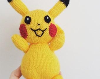 pikachu knitting pattern pokemon doll amigurumi pattern pdf download pokemon stuffed toy