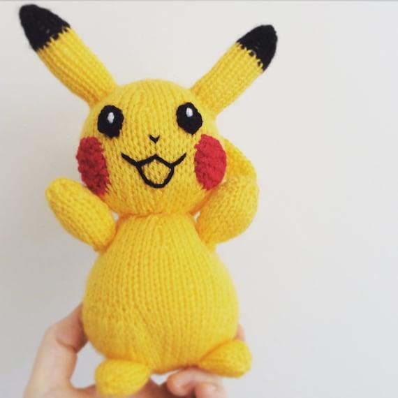 pikachu knitting pattern pokemon doll amigurumi pattern pdf