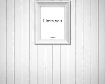 love wall art 5x7