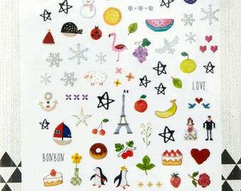 deco mache- Planner- Bullet Journal -Scrapbooking Stickers - Spring Flower - Flower Sticker - Travel Journal- 1049- Love My Tapes