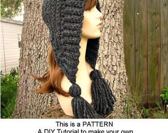 Instant Download Crochet Pattern - Hat Crochet Pattern - Crochet Hat Pattern for Tassel Hat - Womens Accessories