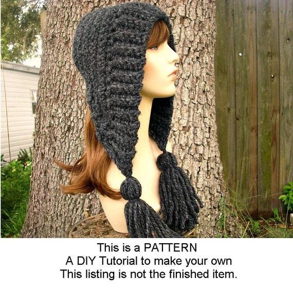 Instant Download Crochet Pattern - Hat Crochet Pattern - Crochet Hat Pattern for Tassel Hat - Womens Accessories