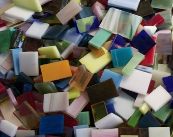 Stained Glass Mosaic Tile Scrap Mix Oddballs and Off-Cuts Everything Under the Sun Assortment