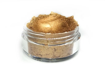 ALIEN -  Loose Eyeshadow, Highlighter, Bronze Eye shadow, Cruelty Free, Gold Shimmer, Metallic Makeup, Gold Makeup, Drag Makeup
