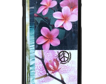 NEW iPhone 7/7+ Case, Orchid and Bamboo Paradise, Best Seller, Flowers, Bamboo, Plumeria, Water,Art, Avail with Black or White case color