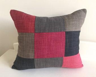 Red- brown-black - cushion