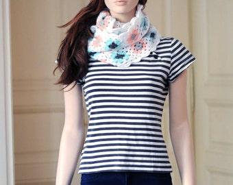 White knit headband Knit ear warmer Cable knit head wrap Running headband Women knitted headbands Navy blue knit turban Xmas gifts for girl