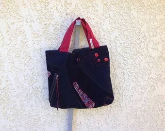 Bag Bi velvet and wool material