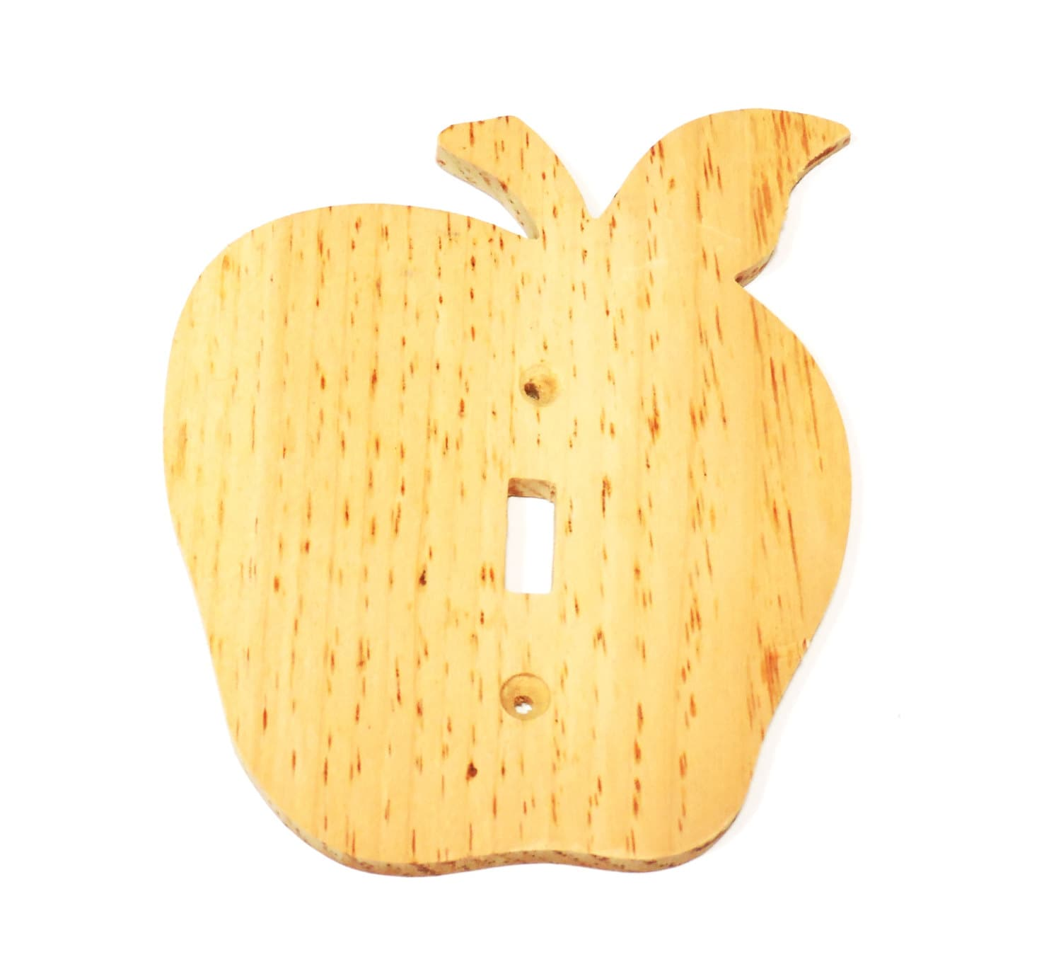 Wood Apple Light Switch Cover to Paint, Unfinished Wooden Apple ...