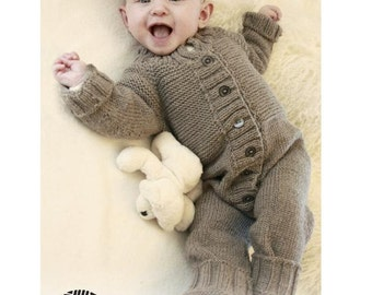 Knit Baby Jumpsuit - MERINO Baby overall