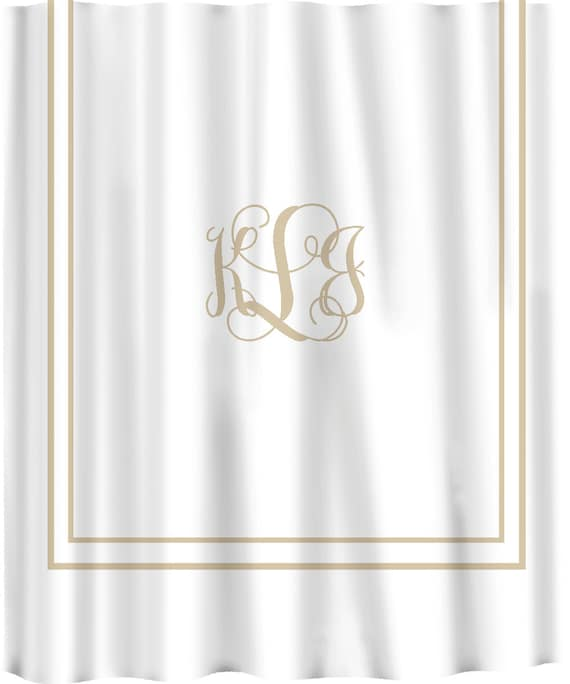 Items similar to Custom Shower Curtain -Simplicity in White or Cream ...