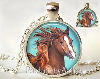 Horse Necklace, Horse Jewelry,Horse Pendant,Farm,Art Pendant,Jewelry,Jewellery,Cute,Gift,Picture, Art,Gift for Granddaughter