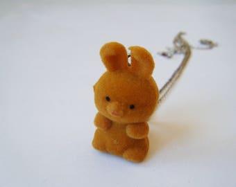 ♥ Rabbit pendant orange ♥