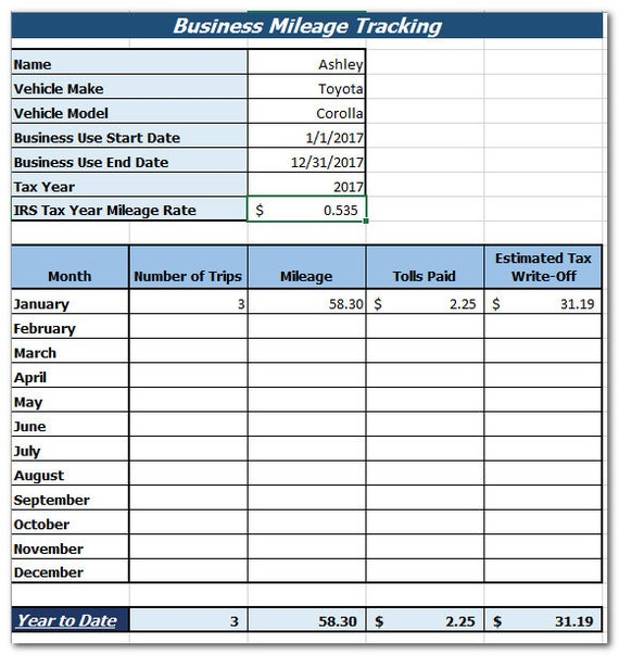 business mileage tracker