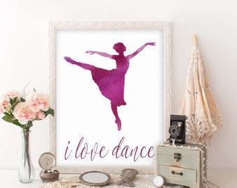 Dance Teacher Gift Printable, I Love Dance, Dance Instructor Keepsake, Dance Teacher Gift, Dance Recital Gift, Dance Teacher Christmas, D100