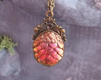 Red/golden Dredge egg necklace