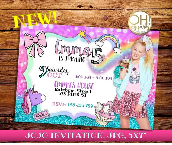 Jojo Siwa Birthday Invitation Jojo Siwa Party Jojo Siwa