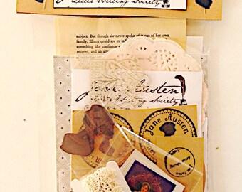 Jane Austen Letter Writing Mini Kit , stationery, Card making , letter writing sets, vintage letters, snail mail , pen pals , Jane Austen