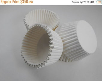 TAX SEASON Stock up 50 Pc Pretty White Cupcake Liners 2X1.25 Inch Size Perfect for Parties