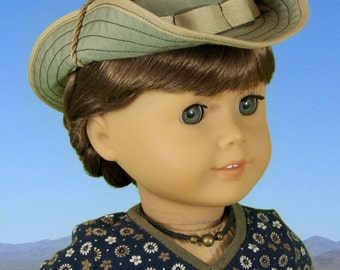 "L&P #1007: Bush Hat or ""Boonie"" Pattern for 18 inch dolls - the perfect hat for all your doll's outdoor adventures"