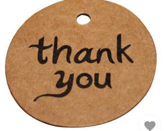 Thank you tags wedding favours etc