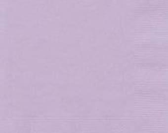 Lilac Lavender Napkins 20 pack, Birthday Napkin, Baby Shower Napkin, Wedding Napkin, Hen Party, Bachelorette, Christening