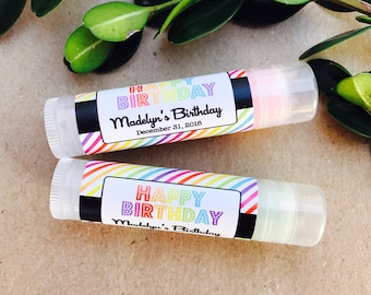 Lip Balm Favors 24ct - Bridal Shower Lip Balm Favors - Party Favors Chapstick - Personalized Favors (LB2004)